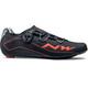 Northwave Flash Shoes Men black/lobster orange